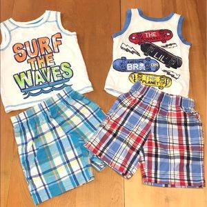 Healthtex Toddler Boy Summer Tank & Shorts Bundle